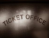 Het Venster van het Bureau van het kaartje Royalty-vrije Stock Foto's