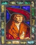 het venster van het de 18de eeuwgebrandschilderd glas Royalty-vrije Stock Fotografie