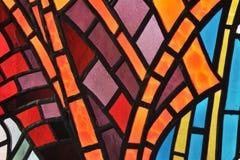 Het venster van het gebrandschilderd glas Stock Foto's