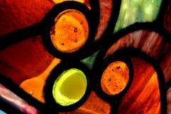 Het Venster van het gebrandschilderd glas Stock Foto