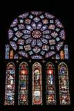 Het venster van het gebrandschilderd glas stock afbeeldingen