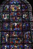 Het venster van het gebrandschilderd glas stock afbeelding