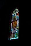 Het Venster van het gebrandschilderd glas. Royalty-vrije Stock Afbeeldingen