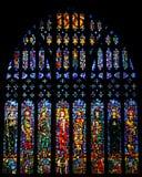 Het venster van het gebrandschilderd glas in de Kathedraal van Chester, het UK Royalty-vrije Stock Foto's