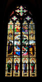 Het Venster van het gebrandschilderd glas, Kathedraal van Keulen Royalty-vrije Stock Afbeeldingen