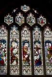 Het Venster van het Gebrandschilderd glas van de Abdij van het bad Stock Afbeeldingen