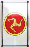 Het venster van het gebrandschilderd glas van het Eiland Man Royalty-vrije Stock Foto's