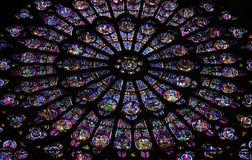 Het venster van het glas in Notre Dame Royalty-vrije Stock Fotografie
