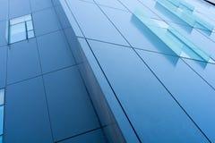 Het venster van het glasdecor bij de collectieve bouw Royalty-vrije Stock Afbeeldingen