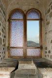 Het venster van het kasteel Stock Afbeelding
