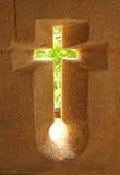 Het venster van het kruisbeeld Stock Fotografie