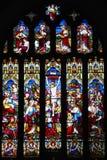 Het venster van het Kruisigingsgebrandschilderde glas Stock Afbeelding