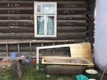 Het venster van het land Stock Afbeeldingen