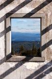 Het Venster van het landschap Stock Fotografie