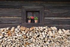 Het venster van het plattelandshuisje Royalty-vrije Stock Afbeelding