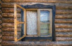 Het venster van het plattelandshuisje Royalty-vrije Stock Fotografie