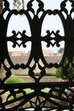Het venster van het staalwerk Royalty-vrije Stock Foto's