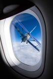 Het venster van het vliegtuig Stock Fotografie