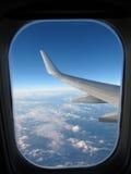 Het venster van het vliegtuig Royalty-vrije Stock Afbeeldingen