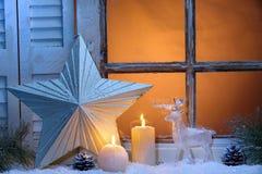 Het venster van Kerstmis Royalty-vrije Stock Foto's