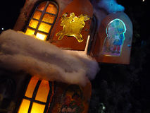 Het venster van Kerstmis Stock Foto