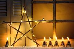 Het venster van Kerstmis Royalty-vrije Stock Afbeeldingen