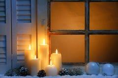 Het venster van Kerstmis Royalty-vrije Stock Fotografie