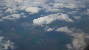 Het venster van het meningsvliegtuig stock footage