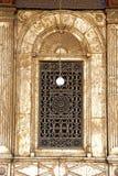 Het venster van Mohamed Ali Mosque. Royalty-vrije Stock Afbeeldingen