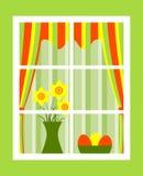 Het venster van Pasen Royalty-vrije Stock Afbeeldingen