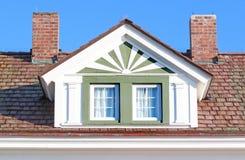 Het venster van Roofline Stock Foto