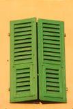Het venster van Shuttered Stock Afbeelding