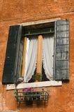 Het venster van Venetië Stock Foto