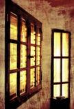 Het venster van Vitage Stock Foto