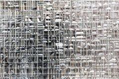 Het venstertextuur van het draadglas stock foto