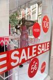 Het venstervertoning van de winkel Stock Fotografie