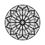 Het venstervorm van het gebrandschilderd glas Stock Afbeelding
