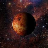 Het Venus van de zonnestelselplaneet bij nevel 3d teruggeven het als achtergrond Royalty-vrije Stock Foto