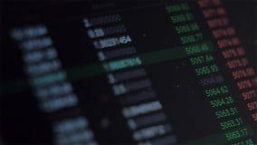 Het veranderen van de prijs, de vluchtigheid van de cryptocurrencymarkt of voorraad Handel op de beurs stock footage