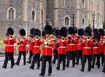Het veranderen van de Wacht bij Windsor Kasteel, Engeland Royalty-vrije Stock Fotografie