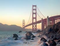 Het Verbazen Golden gate bridge van San Francisco royalty-vrije stock foto