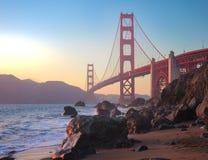Het Verbazen Golden gate bridge van San Francisco royalty-vrije stock fotografie