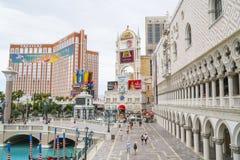 Het verbazen Palazzo Ducale bij Venetiaans Hotel in Las Vegas - LAS VEGAS - NEVADA - APRIL 22, 2017 stock fotografie
