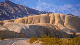 Het verbazende landschap van het Nationale Park van de Doodsvallei in Californië Stock Afbeeldingen