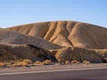 Het verbazende landschap van het Nationale Park van de Doodsvallei in Californië Royalty-vrije Stock Foto's