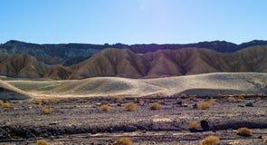 Het verbazende landschap van het Nationale Park van de Doodsvallei in Californië Stock Fotografie