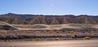 Het verbazende landschap van het Nationale Park van de Doodsvallei in Californië Stock Foto