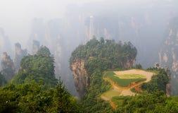 Het verbazende landschap in ZhangJiaJie Stock Foto's