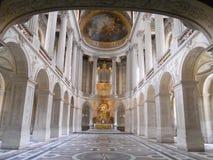 Het verbazende paleis van Versailles, binnenlandse galerij stock afbeeldingen