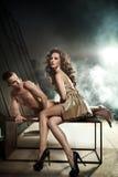 Het verbazende sexy paar stellen Stock Afbeelding